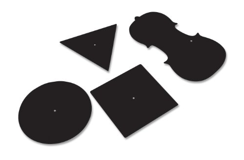 Square Support Plates Aluminum (Daedalon 4 Piece Black Anodized Aluminum Chladni Plates Set)