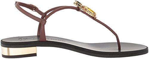 stockist online Giuseppe Zanotti Women's E800130 Flat Sandal Ciocco hot sale cheap price sale 100% guaranteed discount wholesale hgO9Ja
