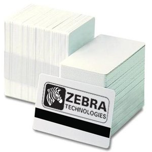 (Zebra card 104523-118 CR-80 Premier Blank PVC Card with Signature Panel, 30 mil Thickness, White)
