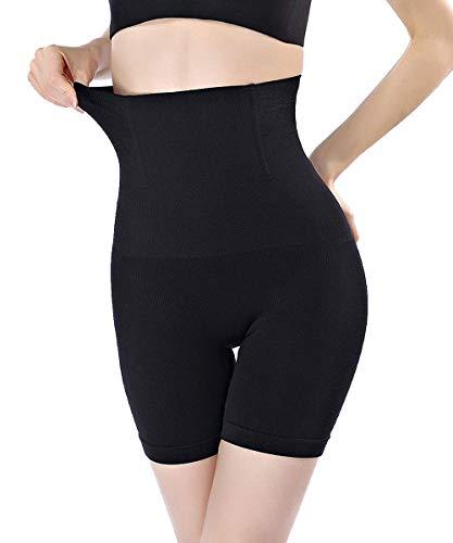 FLORATA Womens Shapewear Tummy Control Shorts Brilliance High-Waist Panty Mid-Thigh Body Shaper Bodysuit, Black (Thigh Slimmer), X-Large / XX-Large