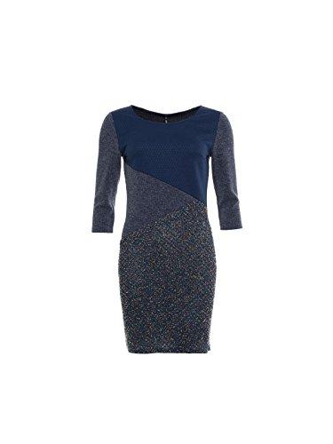 Smash Jupia, Vestido Básico para Mujer Azul (Navy)