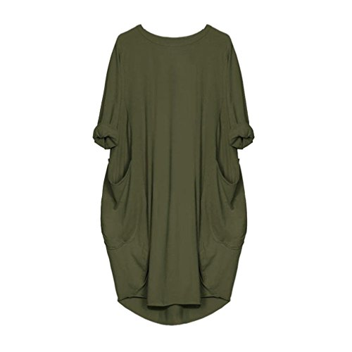 6f3cdf741b718c delikatny TUDUZ Damen Rundhalsausschnitt T-Shirt Tunika Kleid Rundhals  Kurzarm Große Größen ...