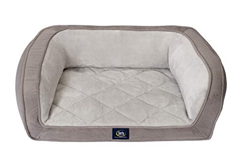 Serta Ortho Quilted Couch, Grey,