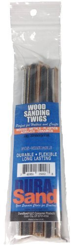 DuraSand Wood Sanding Twigs, Hobby Craft and Models, Mixed Grits (1 Bag w/ 20 Wood Sanding Twigs)