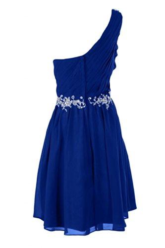 Sunvary nuovo arrivo A una spalla Homecoming-Line-Cartamodello per abiti da donna in simil Chiffon, motivo: Cocktail Party blu 16