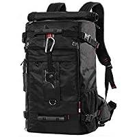 KAKA Classic Laptop Backpack, Travel Hiking & Camping Dayback for Unisex - Black