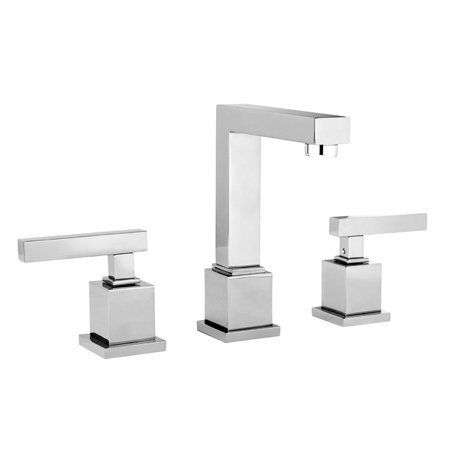 - Newport Brass 2030 Cube 2 Double Handle Widespread Lavatory Faucet with Metal Le, Polished Chrome