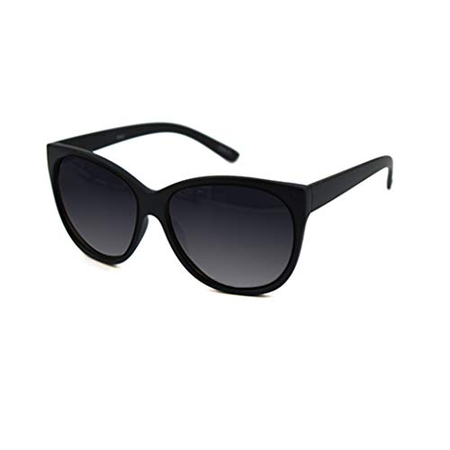 Pop Fashionwear Retro Oversized Cat Eye Poliarized Sunglasses P2431 (Black_1, Smoke) -