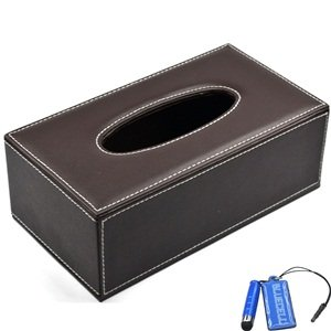 amazon com bluecell pu leather tissue cover box case holder for