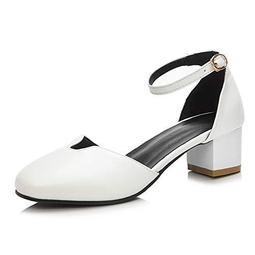 Pumps White Shoes BalaMasa Womens Urethane Solid Travel Fashion APL10441 1ww8ZfxXq