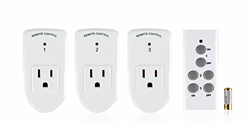 Century Wireless Remote Control Electrical Outlet Switch for Household Appliances (3 Pack) -