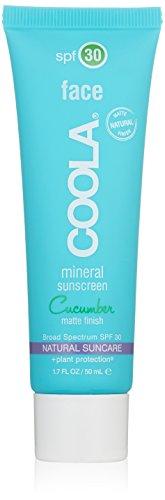 COOLA Mineral Suncare, Cucumber Matte Finish Face Sunscreen, SPF 30, 1.7 fl. Ounce