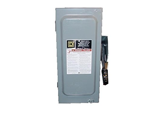 New in Box Square D HU361 600V 30A HD Safety Switch Non-Fusible Disconnect - 600v Disconnect