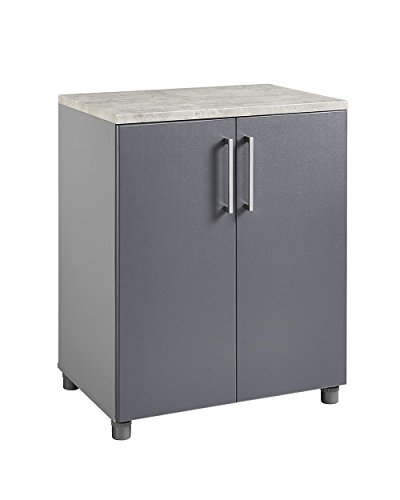 SystemBuild 7471408COM Latitude 2 Door Base Cabinet 2, Gray - 2 Door Storage Base Cabinet