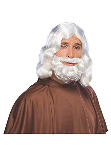 Rubie's Biblical Beard and Wig Set, White, One Size
