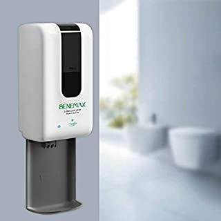 Automatic Spray Hand Dispenser. Wall Mounted. Completely Touchless. 1200ml (38oz) refillable Tank for Offices, Businesses, Hospitals, Schools. (4 x C Batteries Included, Refills Extra)