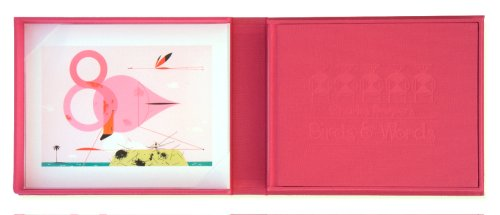 Charles Harper's Birds & Words Ltd Edition W Flamingo Print
