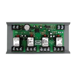 Functional Devices (RIB) RIBMN24Q4C Panel I/O Expander 2.75in 15Amp 4-SPDT 24Vac/dc power, 0-5Vdc Control w/ MT212-6