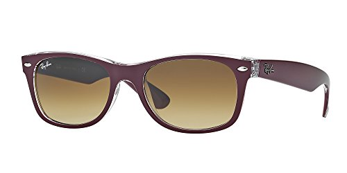 Ray Ban RB2132 605485 55M Matte Bordo' On Transp/Brown Gradient+FREE Complimentary Eyewear Care Kit (Billig Ray Ban Style Sonnenbrille)