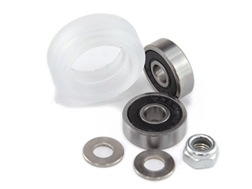 Polycarbonate Solid Wheel Kit for V-Slotted Aluminum Extrusion (Pack of 10) ()