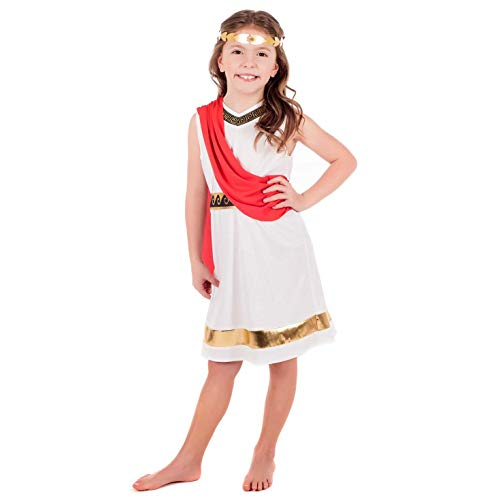 Cheap Historical Costumes (Kids Greek Goddess Costume Childrens Historical Roman Empress Outfit -)