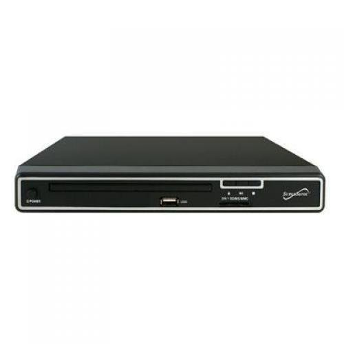 SuperSonic SC-21A 2.0 Channel DVD Player with USB Input & SD Card Slot