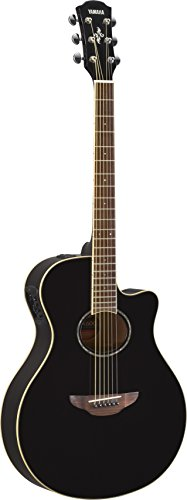 Guitar Acoustic Electric (Yamaha APX600 BL Thin Body Acoustic-Electric Guitar, Black)
