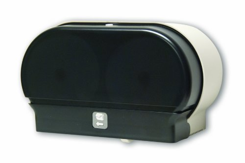 Palmer Fixture RD0321-01 Mini-Twin Standard Tissue Dispenser, Dark Translucent