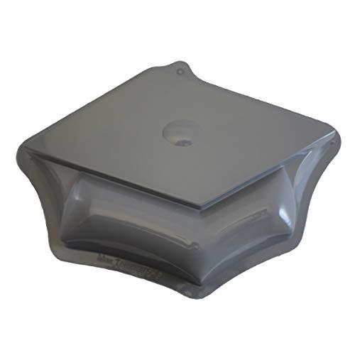 - CK Products 49-8119 Plastic Graduation Cap Cake Pan, Grey