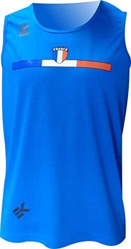 Camiseta EKEKO France 2018 Tirantes, Hombre, para Running, Gym, Fitness Y Deportes DE Playa.: Amazon.es: Deportes y aire libre
