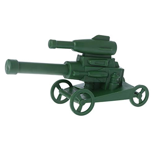Kofun Military Model Toy, Military Cannon Gun Model Soldier Army Plastic Children Kids Boy Educational Toy Ideal Christmas Birthday Model for Kids Gift for Kids 1#