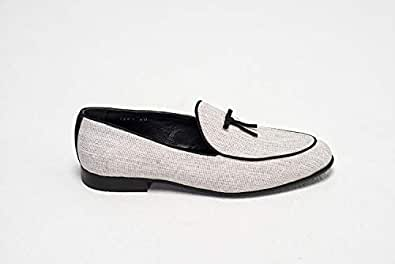 Konfidenz White & Black Loafers & Moccasian For Men