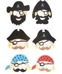 DPP+ 12 Kids Foam Pirate Masks Birthday Party Pretend Play
