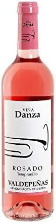 VIÑA DANZA vino rosado DO Valdepeñas botella 75 cl