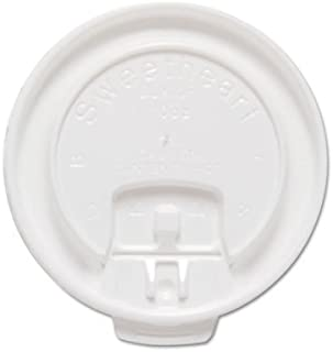 product image for SOLO Cup Company Liftback & Lock Tab Cup Lids for Foam Cups, Fits 10 oz Trophy Cups, WE, 2000/CT (DLX10R)