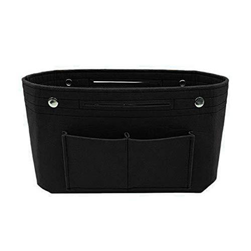 Holiday Patchwork Tote - Women Ladies Handbag Organizer Bag,Multi Pocket Tote Useful Bag,Holiday Home Storage Bag Storage Box (Black)