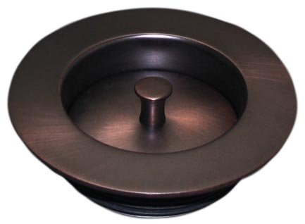 Victorian Bronze Garbage Disposer Sink Stopper & Flange