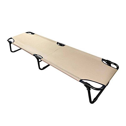 ALEKO FCB-SD Fold Up Portable Camping Cot for Camping Hiking Hunting Easy Set Up Sand