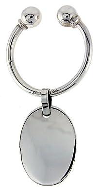 Amazon.com: Plata de Ley herradura tipo llavero llavero, 4 ...