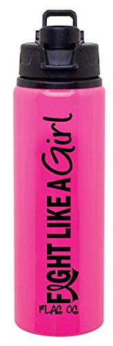 Fight Like a Girl Aluminum Sports Bottle