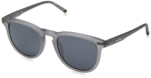 Calvin Klein Men's Ck4321s Square Sunglasses, Matte Grey, 51 - Sunglasses Calvin Men Klein