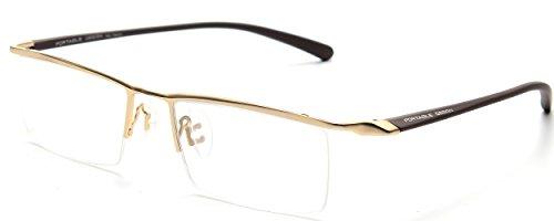 JNS Titanium Semi-rimless Eyeglasses Business Optical Frame Clear - Eyeglasses Rimless Semi