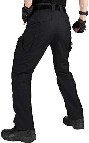 FREE SOLDIER Mens Water Resistant Pants Relaxed Fit Tactical Combat Army Cargo with Multi Pocket Gray 32W//30L