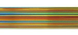 Cbs Rainbow Dichroic On Black 1mm Stringers - 96 Coe