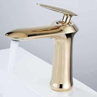 golden Low Faucet Bathroom Cabinet Faucet Kitchen wash Basin Basin Single Control hot and Cold Bathroom Faucet gold Black Low Section