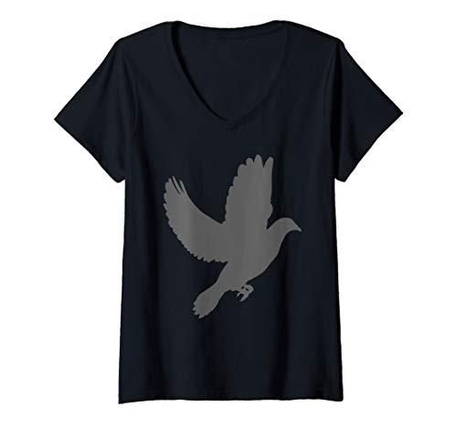 Womens Dove Birdwatching Gift Pigeon Cool V-Neck T-Shirt