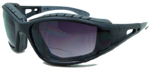 In Style Eyes Sportify, Nearly No Line Bifocal Sunglasses Rugged Eyewear for any Outdoor Activity/Black/2.50 - Glasses Prescription Rugged