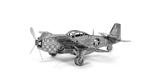 Fascinations Metal Earth P-51 Mustang Airplane 3D Metal Model Kit (Metal Works 3d Laser Cut Models compare prices)