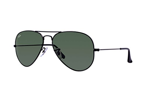 Ray-Ban RB3025 Aviator Large Metal Unisex Sunglasses (Black Frame/ Grey Green Lens L2823, - Sunglases Rayban