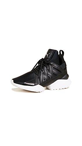 Black Sneakers B Satin EP White 5 US Women's Muse PUMA 9 Echo M wYXUqx4